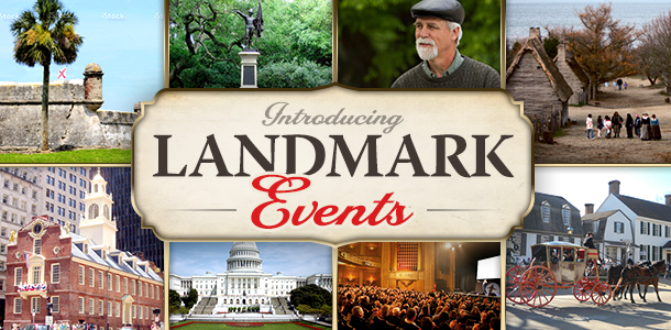 Introducing Landmark Events! Tours, Conferences, Retreats and More
