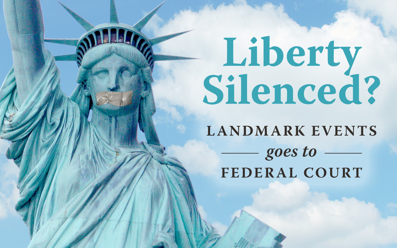 Landmark Events Goes to Federal Court