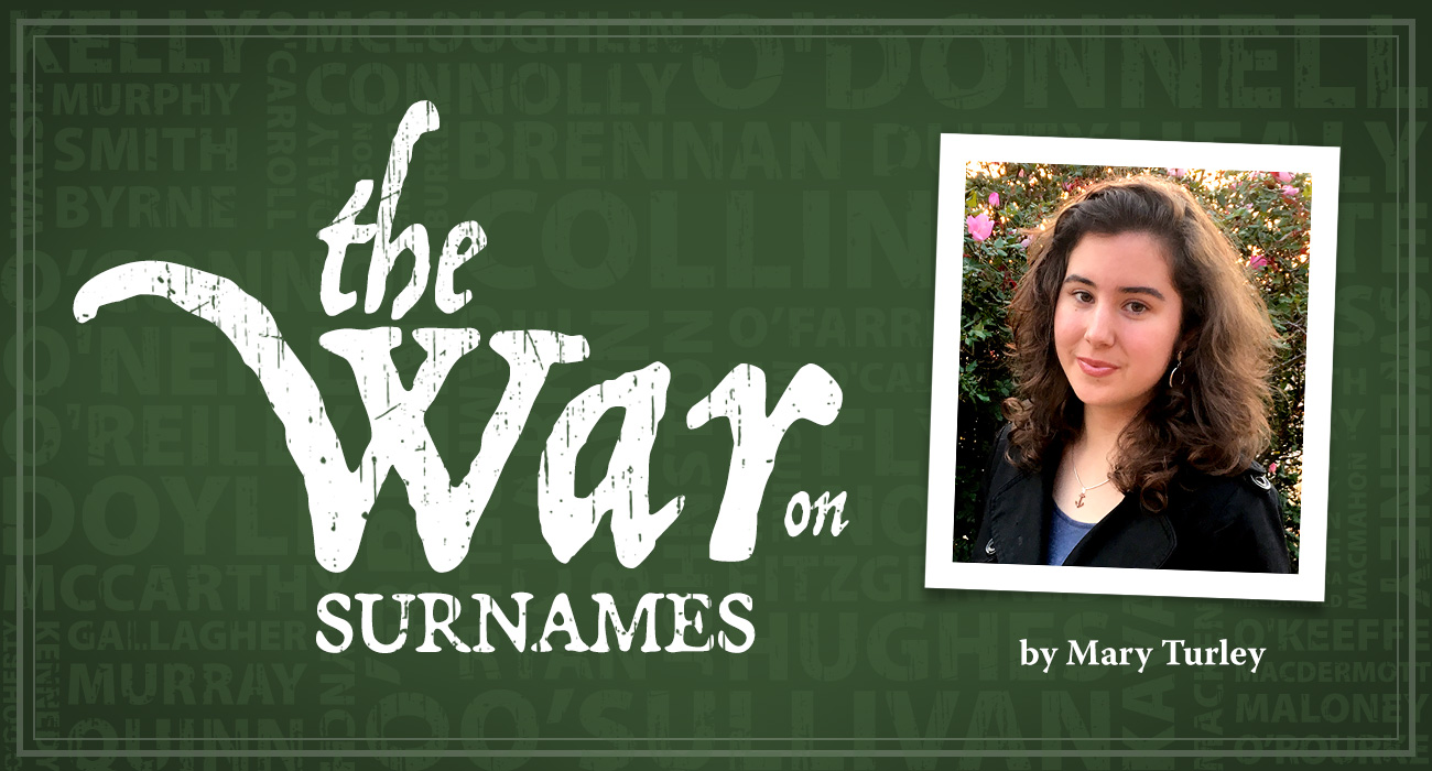 The War on Surnames