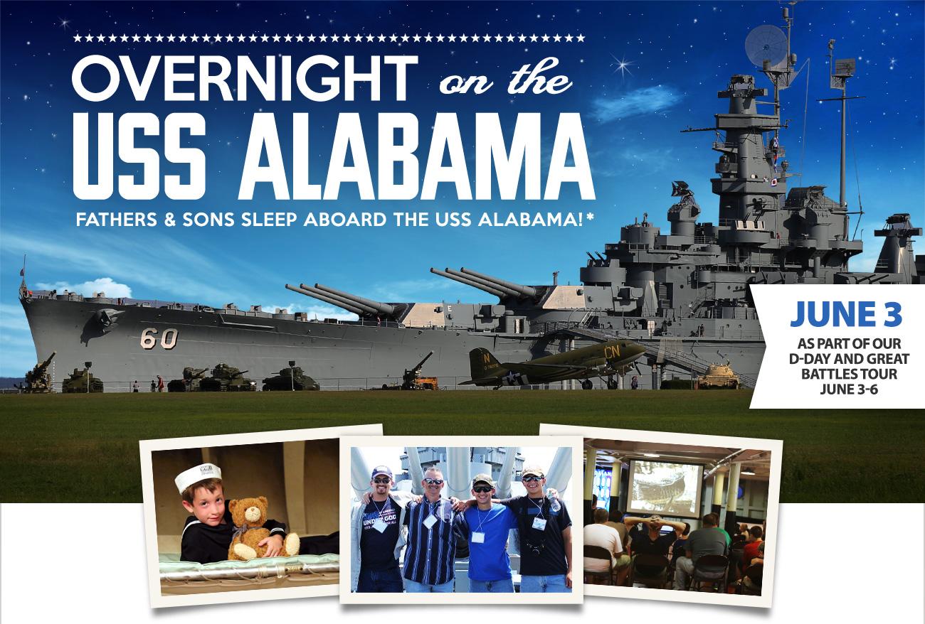 Overnight on the Battleship USS Alabama!