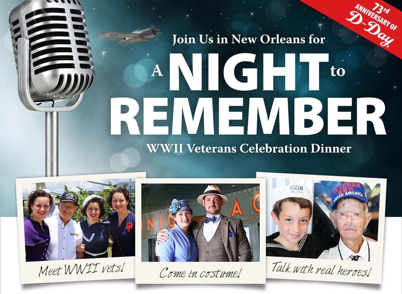 WWII Veterans Celebration Dinner!