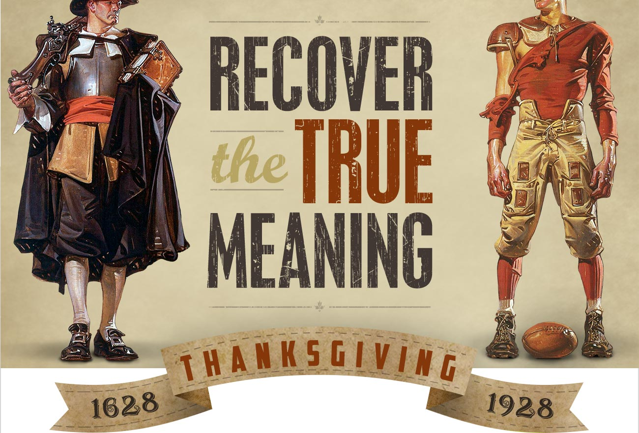 Recover the True Meaning of Thanksgiving!