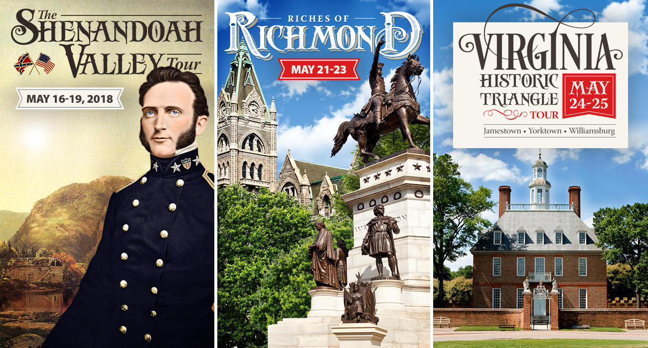 Last Call for Virginia History Tours!