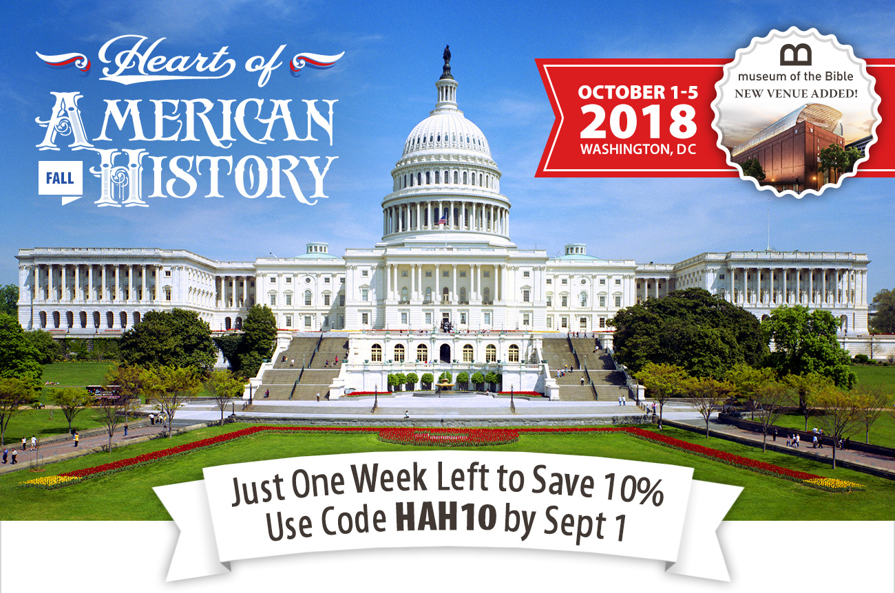 Final Week to Save 10% on DC Tour!
