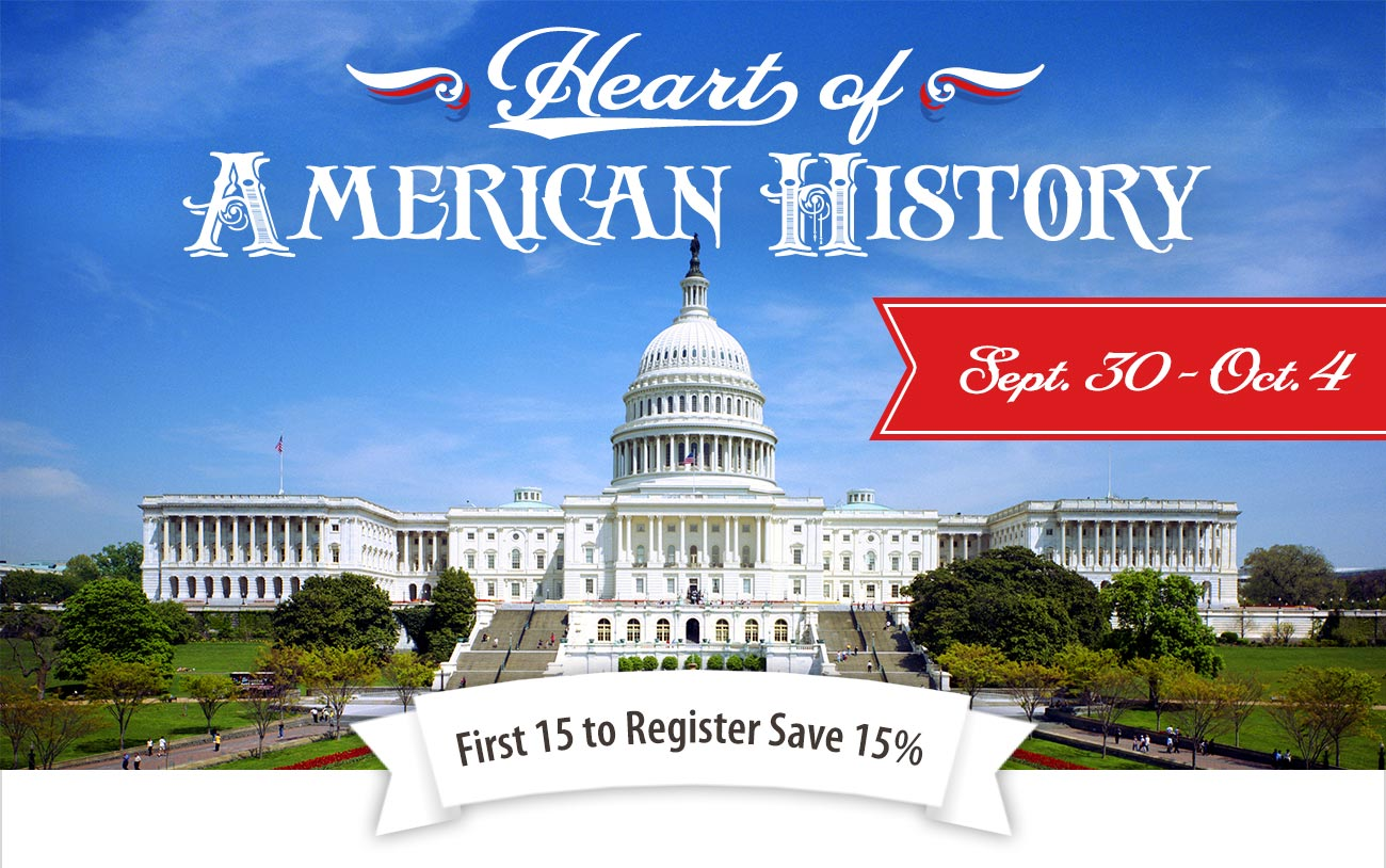First 15 to Register for Washington DC Save 15%