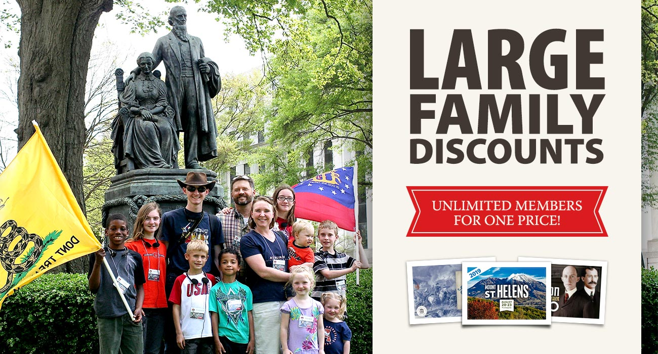 Large Family Discounts — Unlimited Members for One Price!