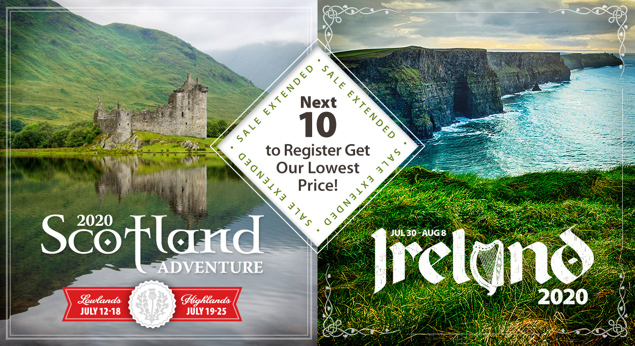 Sale Extended on Scotland and Ireland!