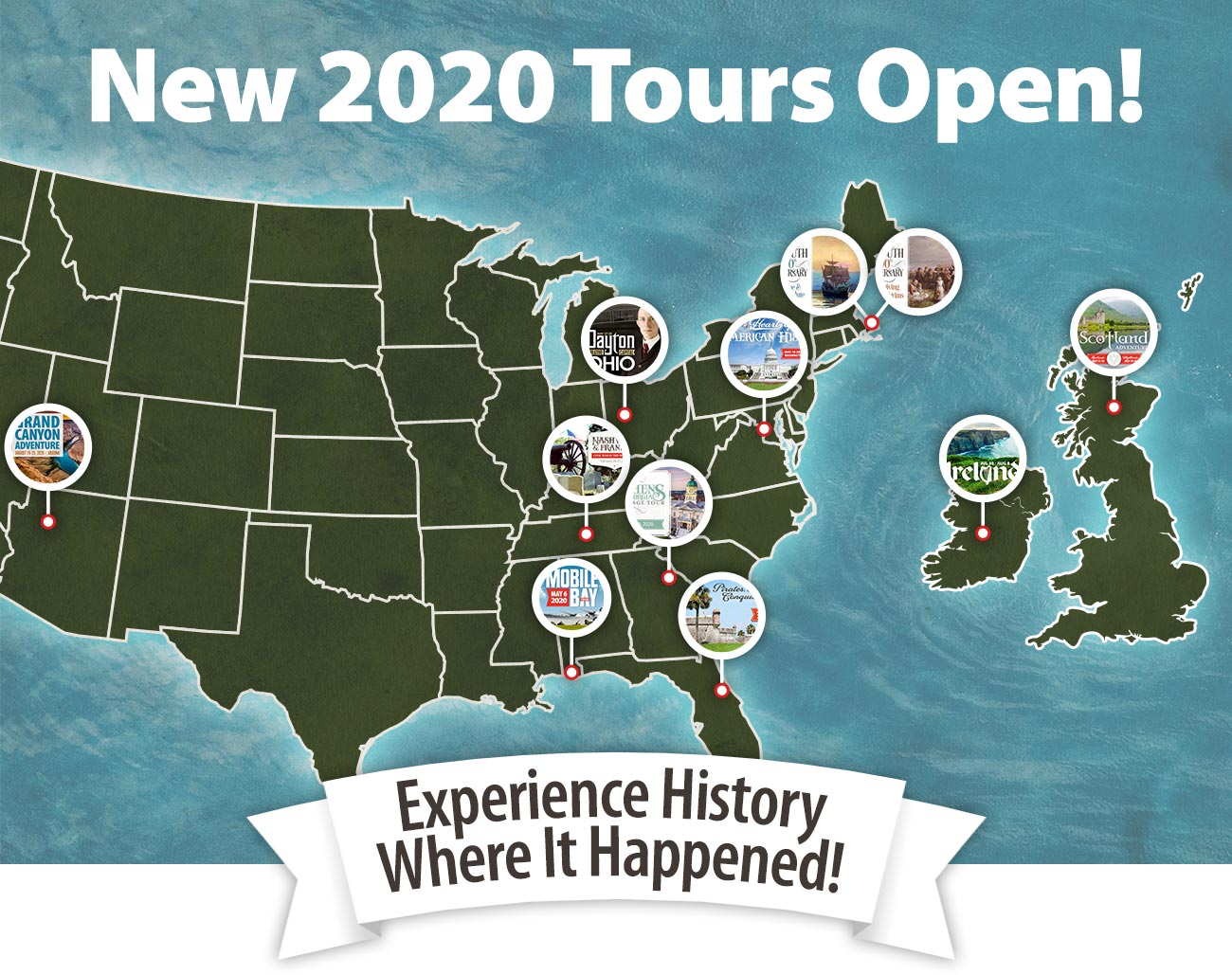 New 2020 Tours Open!