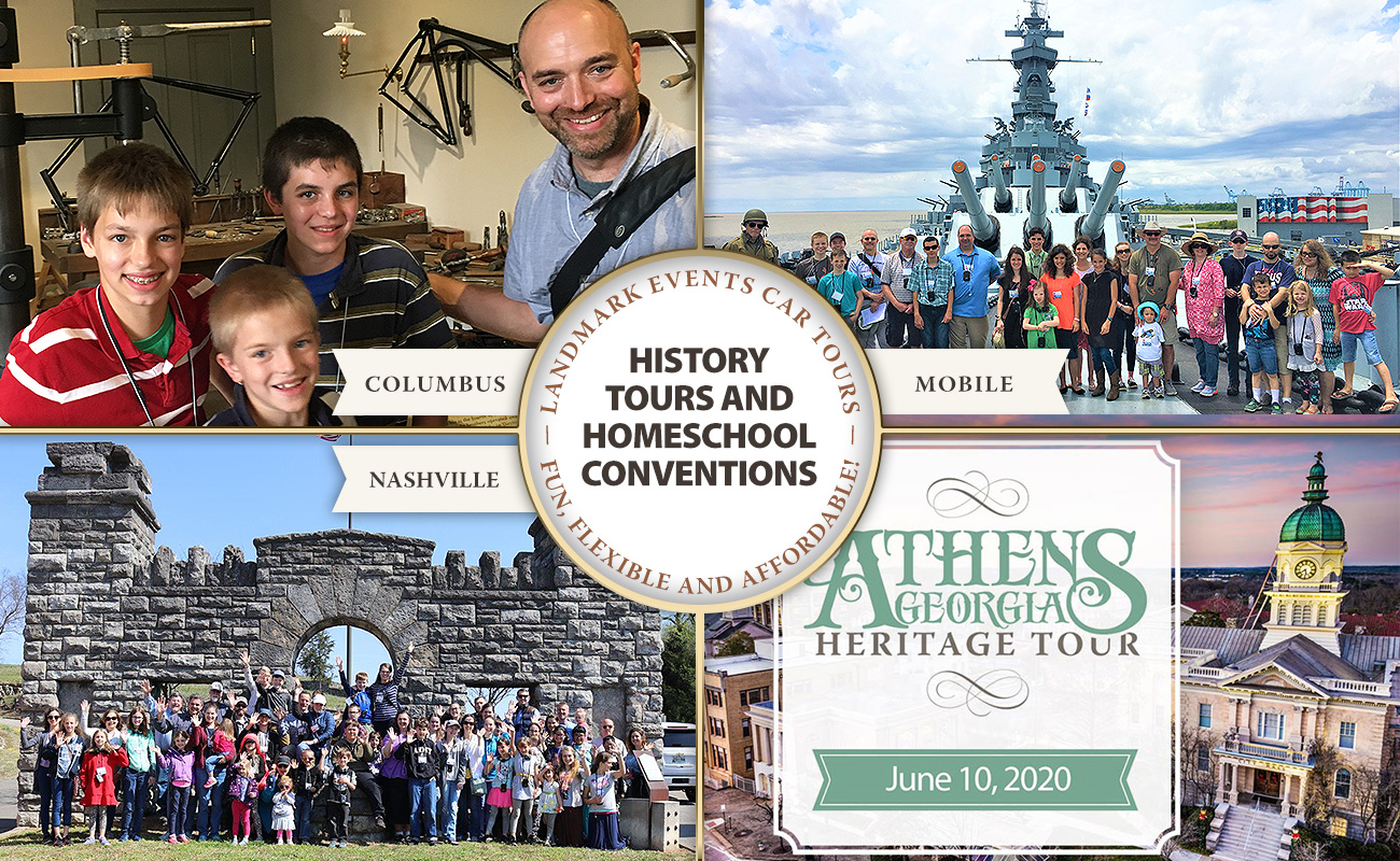 History Tours and Homeschool Conventions