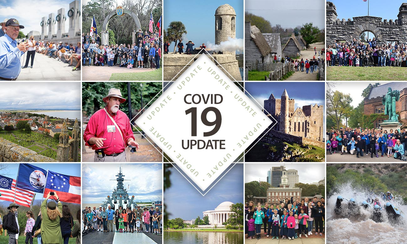 COVID-19 Update on Tours