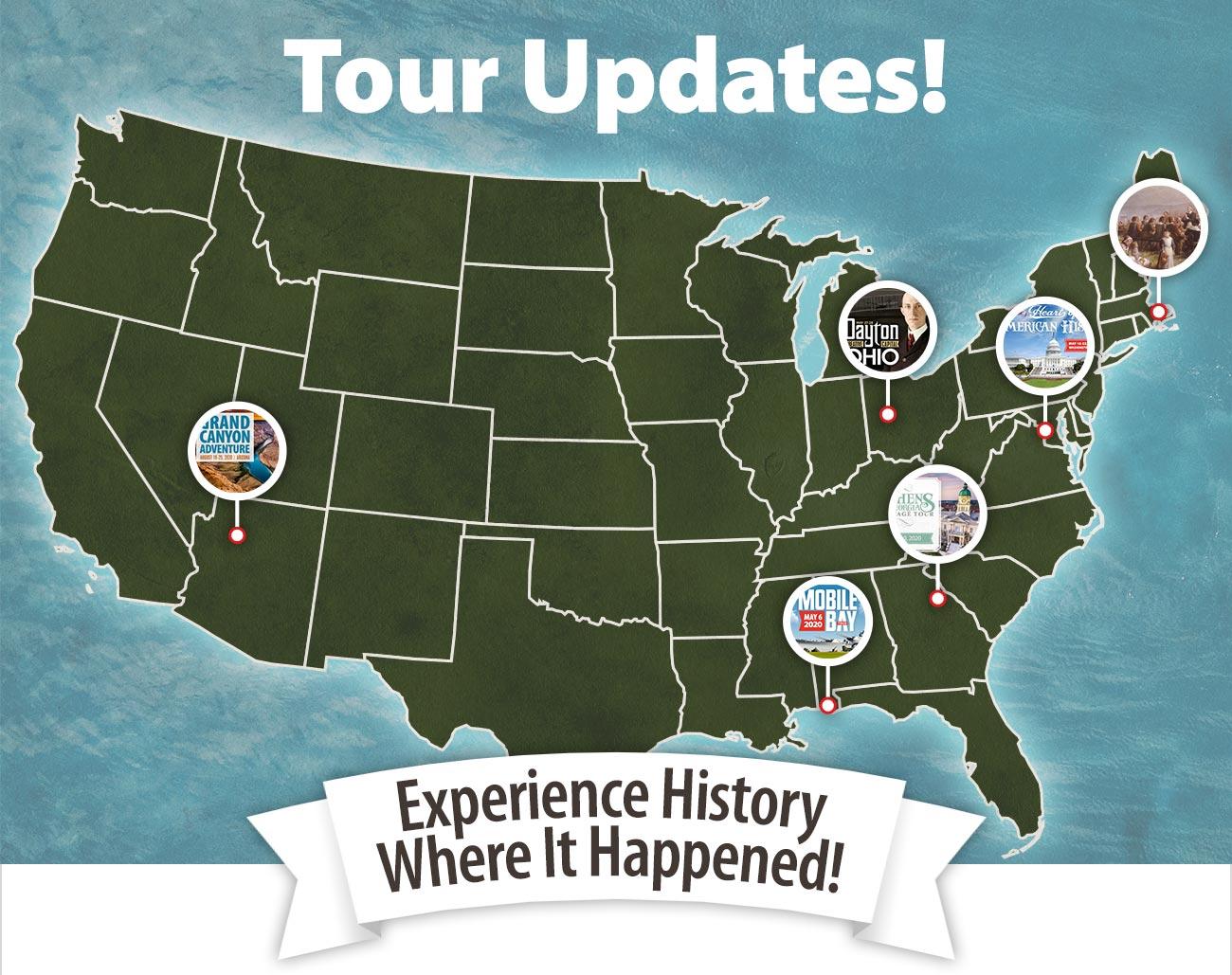 Tour Updates