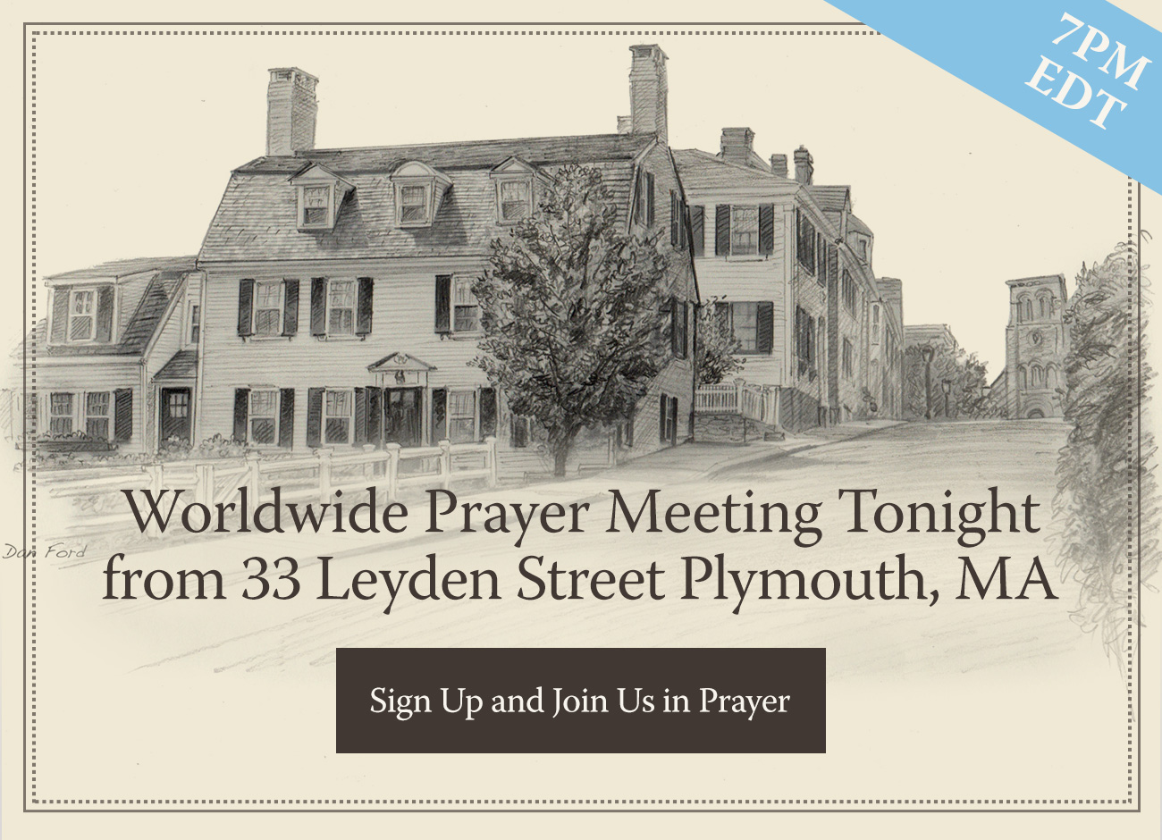 Worldwide Livestream Prayer Meeting Tonight from Plymouth, MA - 7pm ET