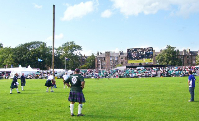 The caber toss, a favorite feature among Highland Games events