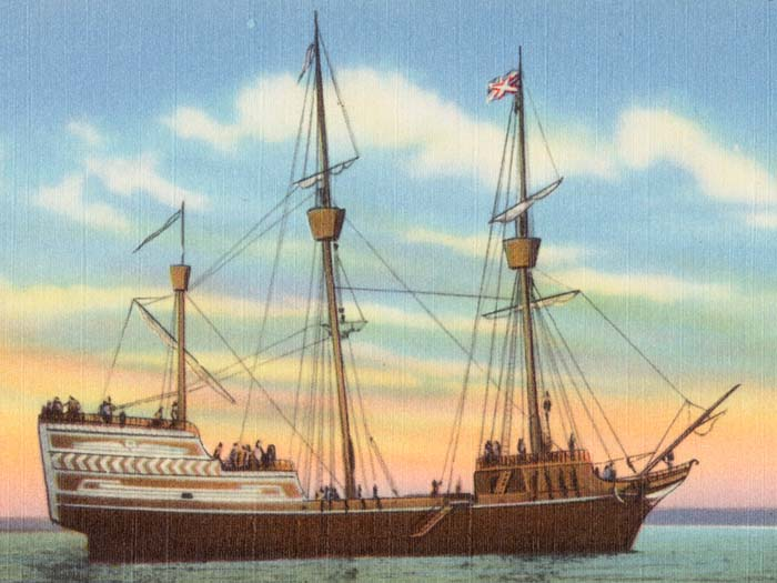 Transported English Puritans And The Charter Of Massachusetts Bay Company From England To Salem Between April 8 June 12 1630