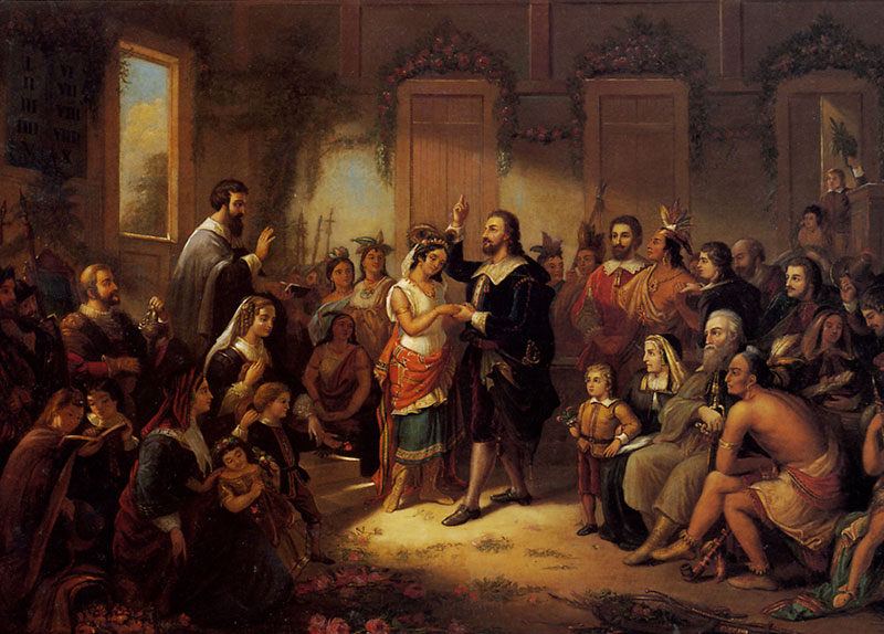 The Marriage Of Pocahontas And John Rolfe 1614 Landmark Events